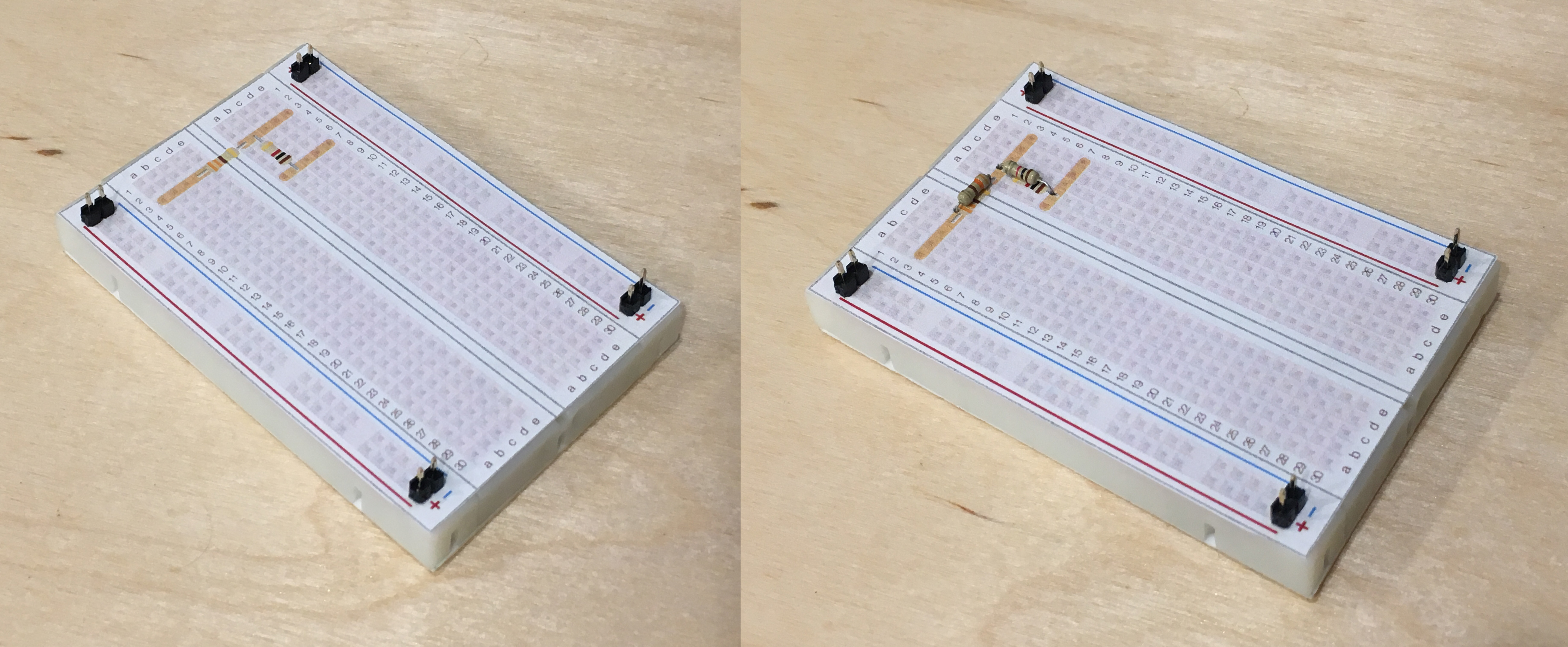 Wilderness Labs Developer Portal Putting Two Resistors In Series As Shown The Circuit Here Will Overlays Can Be Pinned Down Photos Above By Using Some Breakaway Headers Which Easily Snapped To Size With Pliers