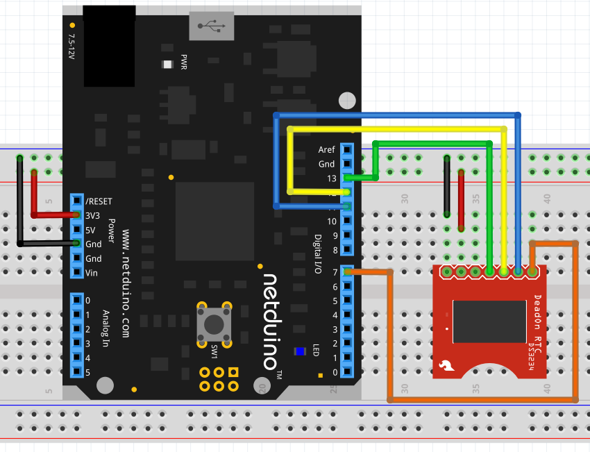 Netduino and DS3234 Breakout Board