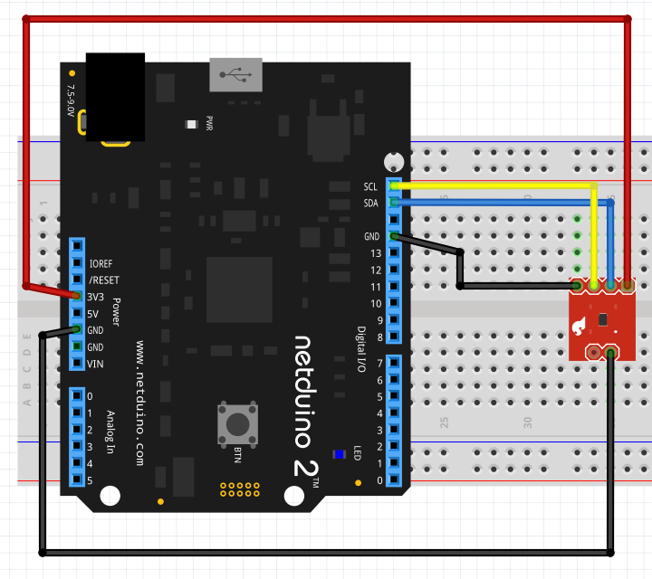 Netduino and TMP102 Temperature Sensor